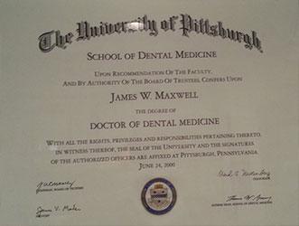 Dr James Maxwell diploma